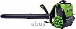 Greenworks 80V 145MPH-580CFM Cordless Backpack Leaf Blower, 2.5Ah Battery&Charger
