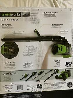 Greenworks Pro 60-Volt Cordless Backpack Electric Leaf Blower BPB60L00