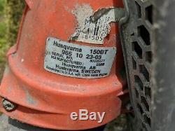 Husqvarna 150BT 50-cc 2-Cycle 251-MPH 692-CFM Gas Backpack Leaf Blower Working