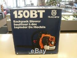 Husqvarna 150BT 50cc 2 Cycle Gas Commercial Leaf Backpack Blower