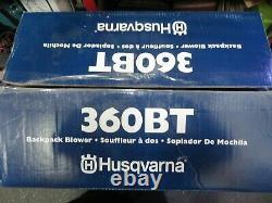 Husqvarna 360BT Backpack Leaf Blower 66-cc 2-Cycle 232-MPH 890-CFM FREE SHIPPING