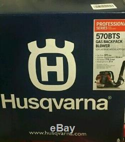 Husqvarna 570BTS 66.6cc 2-Cycle Gas Backpack Leaf Blower 236 MPH 972 CFM