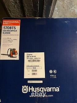 Husqvarna 570bts Gas Leaf Blower 570 BTS 2 cycle backpack yard grass 65.6cc 232