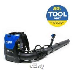 Kobalt 80-Volt Max 580 CFM Cordless Backpack Leaf Blower Tool Only