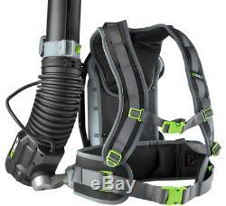 Leaf Blower Lithium Ion Cordless Electric Backpack Hi Efficiency 145 MPH 56 Volt
