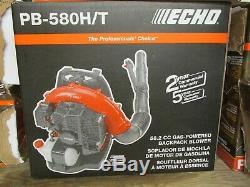NEW ECHO PB-580H/T 216 MPH 517 CFM 58.2cc Gas Backpack Leaf Blower