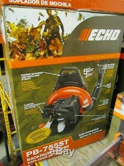 NEW ECHO PB-755ST Gas 2-Stroke Backpack Leaf Blower with Tube Throttle