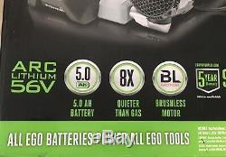NEW EGO 600 CFM 56-Volt Lith-Ion Cordless Backpack Blower 5.0 Ah Battery NOT INC