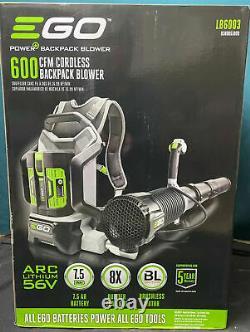 NEW EGO Brushless Backpack Leaf Blower Power+ LB6003 600 CFM Cordless