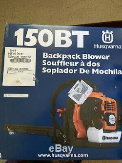 NEW Husqvarna 150BT 50-cc 2-Cycle Gas Backpack Leaf Blower