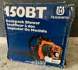 NEW Husqvarna 150BT 50cc 2 Cycle Gas Commercial Leaf Backpack Blower Damaged Box