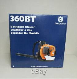 NEW Husqvarna 360BT 65.6cc 2-cycle Gas Backpack Leaf Blower