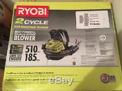 NEW- Ryobi RY08420A BP42 185 MPH 510 CFM Gas Backpack Leaf Blower