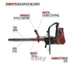 NEW Snapper BPB58V 58V Cordless Backpack Leaf Blower