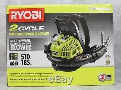 NIB Ryobi RY08420B 2-Cycle 510CFM 185MPH Gas Backpack Leaf Blower