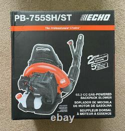 New Echo Gas Powered Back Pack Leaf Blower 63.3cc New Model # Pb-755sh/st