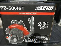New Echo PB-580H/T Gas Powered Back Pack Leaf Blower. FREE SHIPPING