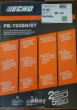 New Echo Pb-755sh/st Backpack Gas Leaf Blower Pb755st 233 Mph 2 Stroke 63.3cc 73