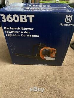 New Husqvarna 360BT 65.6cc Backpack Leaf Blower