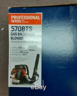 New in Box Husqvarna 570BTS 2-cycle Professional Gas Backpack Leaf Blower