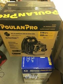 Poulan Pro Pr46Bt 46cc 2-Cycle 220 Mph 490 Heavy-Duty Gas Backpack Leaf Blower