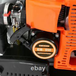 Powerful 63cc 2-Cycle Motor Gas 850 CFM 230 MPH Backpack Leaf Blower Orange