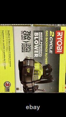 RYOBI 175 MPH 760 CFM 38cc Gas Backpack Leaf Blower 2 Cycle