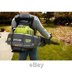 RYOBI Backpack Leaf Blower 175 MPH 38cc Gas Power Adjustable Speed Recoil Start