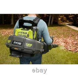 RYOBI Backpack Leaf Blower Cordless 154mph 625cfm 40V Li Ion 5Ah Battery Charger