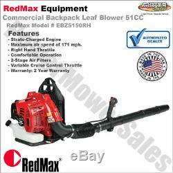 RedMax Commercial Backpack Leaf Blower 51CC, Hand Throttle / EBZ5150RH