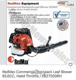 RedMax EBZ7500RH 236 MPH 112 Db 65.6 Cc Gas-powered Backpack Leaf Blower