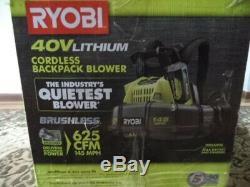 Ryobi 40v Cordless Battery Powered Backpack 40v Leaf Blower 145 Mph Tool Only