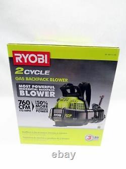 Ryobi RY38BP 175 MPH 2 Cycle 38cc Gas Backpack Leaf Blower 760CFM