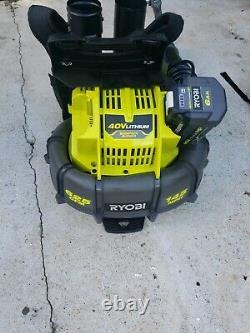 Ryobi RY40404 145 MPH 625 CFM 40V Backpack Blower With 6.0a/h Batt+Charger