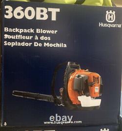 SEALED Husqvarna 360BT 66cc 2-Cycle Gas Backpack Leaf Blower