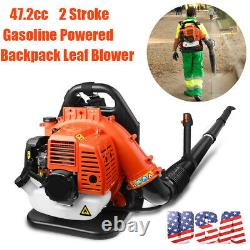 US Commercial Backpack Leaf Blower Gas Powered Grass Lawn Blower 2-Stroke 42.7CC